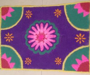 Carpet kolam