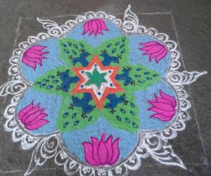 Independence Day kolam or RANGOLI