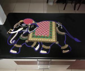 Rangoli: 2017-Balarama, the elephant..