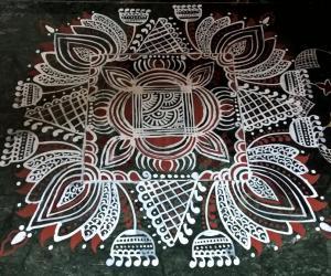 Rangoli: 2017-Durga Pooja-Sandhya's place-3