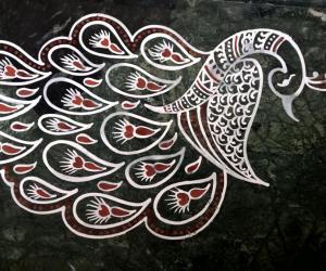 Rangoli: 2017-Durga Pooja-Sandhya's place-2