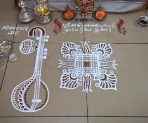 Rangoli: 2017-Golu-3-Saraswati Pooja