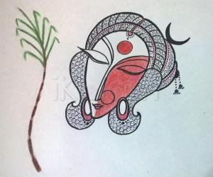 Rangoli: 2017-Navrtari-6-2-The Goddess