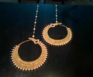 Rangoli: 2017-Navratri-8-1-Maa Durga's earrings-Bali