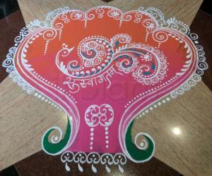 Rangoli: 2017-Soundaryalahiri Saptaha-2-Swagatam-1