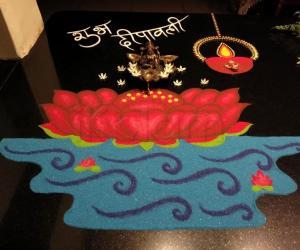 2018- Diwali- 2- Goddess Lakshmi seated on a lotus
