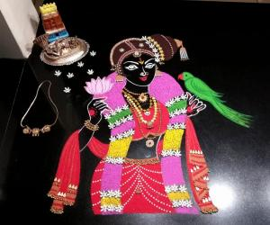 2018- Margazhi Kolams- Goddess AandaaL
