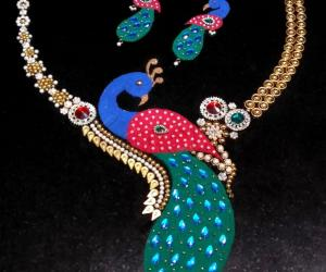 Rangoli: 2018- Navaratri- Peacock fashion jewellery for The Grand lady....