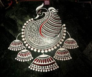2018- Navratri- Threshold kolam- 3