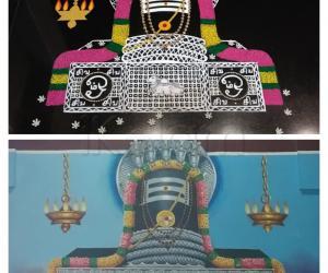2020- Thiruvaadhirai- Thaayumaanaswamy/ Shri Maathrubhootheshwarar-Thiruchiappalli- The actual temple-ceiling drawing...