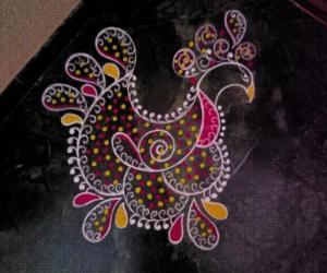 Home Kolams-Peacock