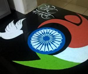 Rangoli: 2017-Republic day