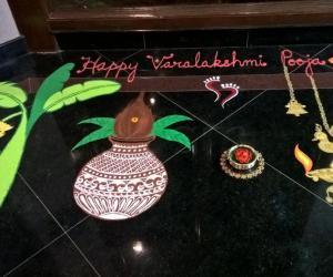 Rangoli: 2016-Varamahalakshmi Pooja-Lobby