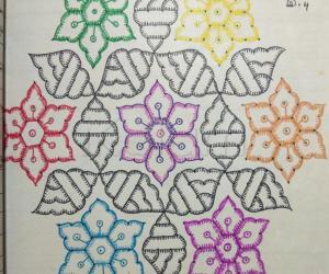 Kolam Notebook Kolams- 10