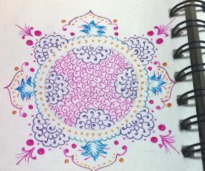 Kolam Notebook Kolams- 154