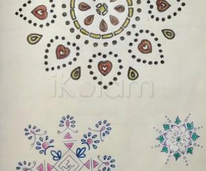 Kolam Notebook Kolams- 77