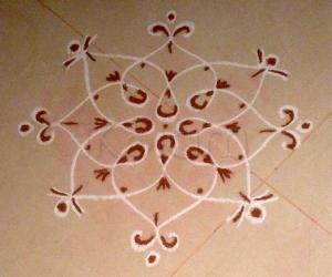 Rangoli: Simple one