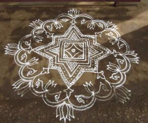 Rangoli: Usual kolam