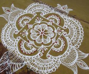 Rangoli: Deepam Day kolam