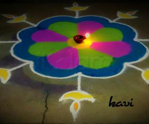 Rangoli: Diyas rangoli