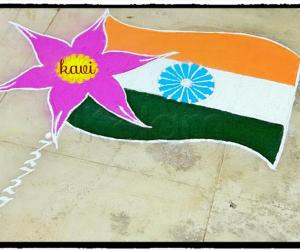 Independence day Rangoli