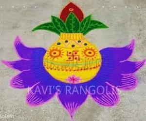 Kalash rangoli