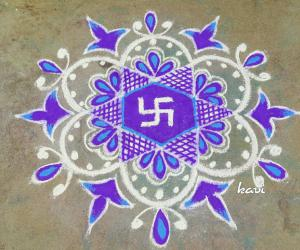 Navarathri day 9: color code: Purple