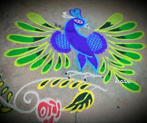 Rangoli: Gorgeous Peacock
