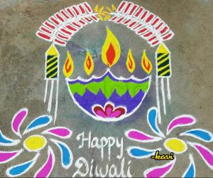 Diwali Special with diya & crackers