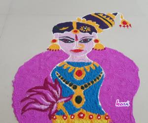 Rangoli: Goddess Andal