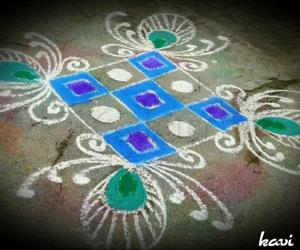 Rangoli: Simple rangoli design
