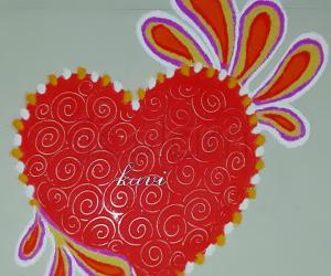 Rangoli: Valentines day 2018