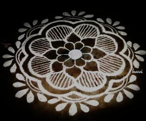 Floral pattern rangoli