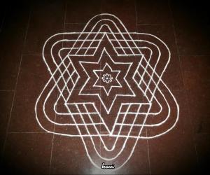 Rangoli: Concentric stars