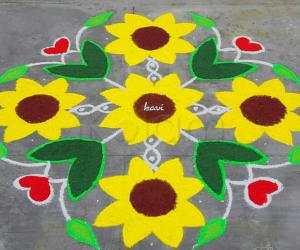 Sunflower Kolam