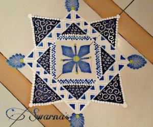 Navaratri Day 4 Royal blue colour