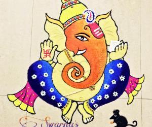 Ganesh Chaturthi special kolam
