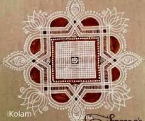 Traditional kolam