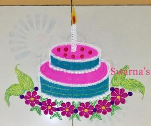Birthday rangoli