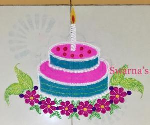 Birthday rangoli
