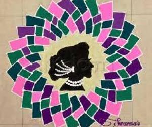 Women's day special rangoli