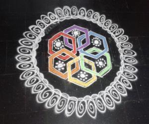 Rangoli: Multicolour rangoli