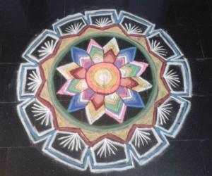 multi colour rangoli