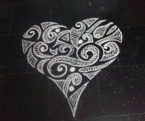 Valentine Rangoli