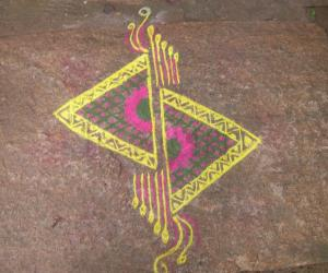 Rangoli: cut triangles