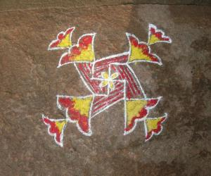 Rangoli: swastik6