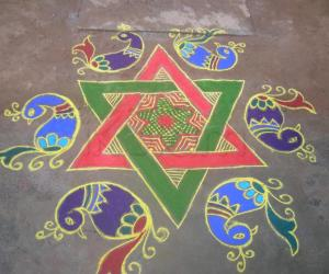 Dotted rangoli for contest 2013