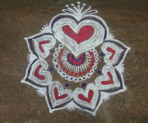 margali 14th day kolam