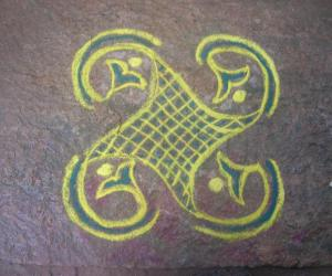 freehand kutty rangoli
