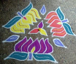 Rangoli: Dotted kolam - 11-6